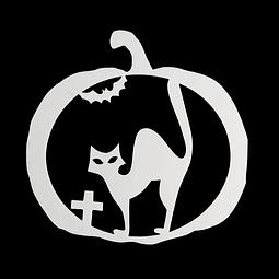 Stencil Halloween Calabaza - Gato