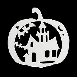 Stencil Halloween Calabaza - Casa