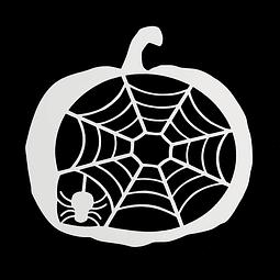 Stencil Halloween Calabaza - Tela de Araña