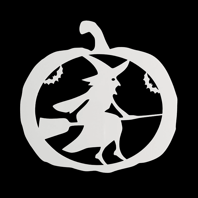 Stencil Halloween Calabaza - Bruja