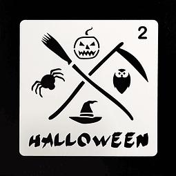 Stencil Halloween Cuadrado Muerte 2