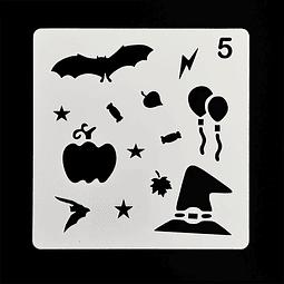 Stencil Halloween Cuadrado Caramelos 5