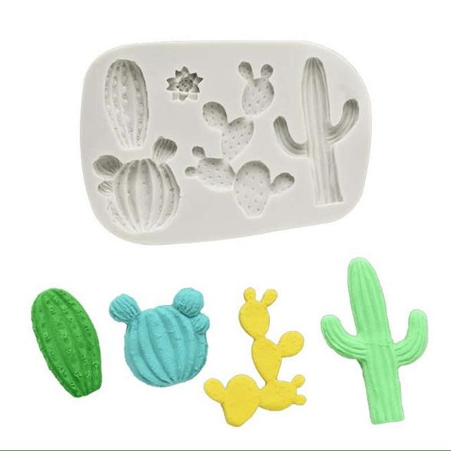 Molde Fondant Cactus Varios Silicona