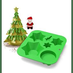 Molde Silicona Pino Navidad Armable