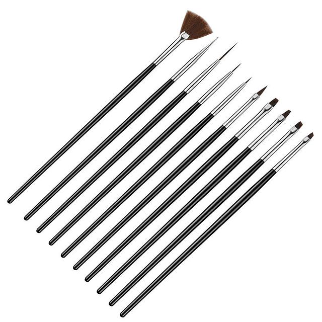 Set de Pinceles 9 Piezas + Punzón