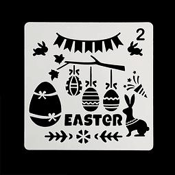 Stencil Pascua Cuadrado Easter 2