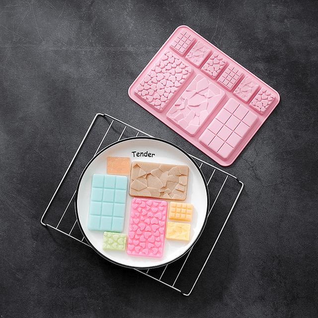 Molde Chocolate Tabletas Surtidas Silicona
