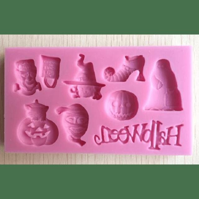 Molde Fondant Halloween Rectangular Silicona