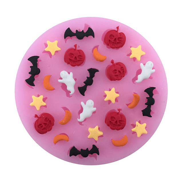 Molde Fondant Mini Halloween Silicona