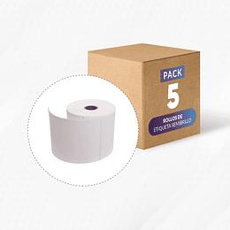 5 rollos etiqueta semibrillo 100 mm x 150 mm (330 etiquetas x rollo)