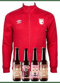 Chaqueta Roja algodón (Talla S) + 4 Cervezas