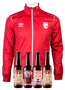 Chaqueta Roja (Talla S) + 4 Cervezas