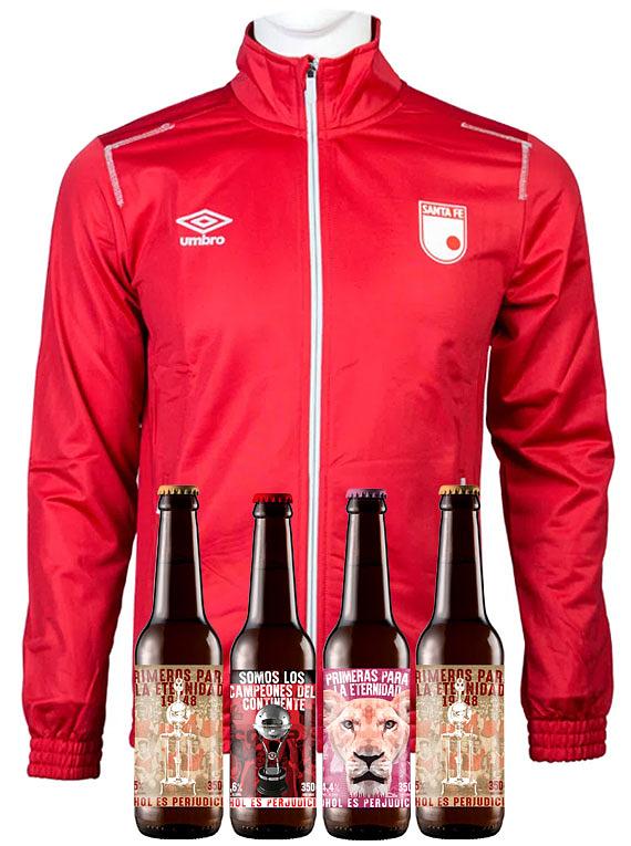 Chaqueta Roja (Talla L) + 4 Cervezas