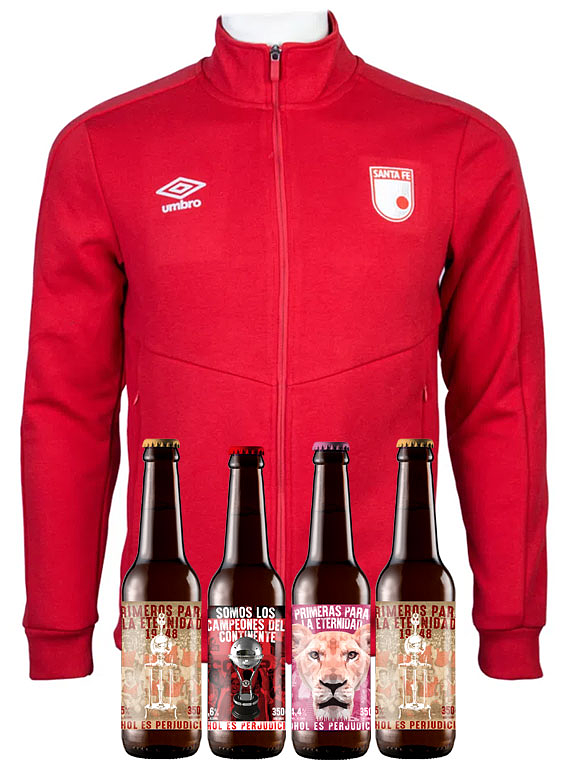 Chaqueta Roja algodón (Talla M) + 4 Cervezas