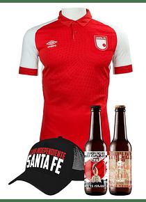 (Camiseta 2019 - Hombre - Roja - Talla M) + Gorra + 2 cervezas