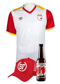 (Camiseta - Blanca 2017 - Talla XL) + Gorra + Cerveza