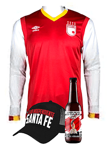 (Camiseta - Roja 2017 - Talla S - Manga Larga) + Gorra + Cerveza