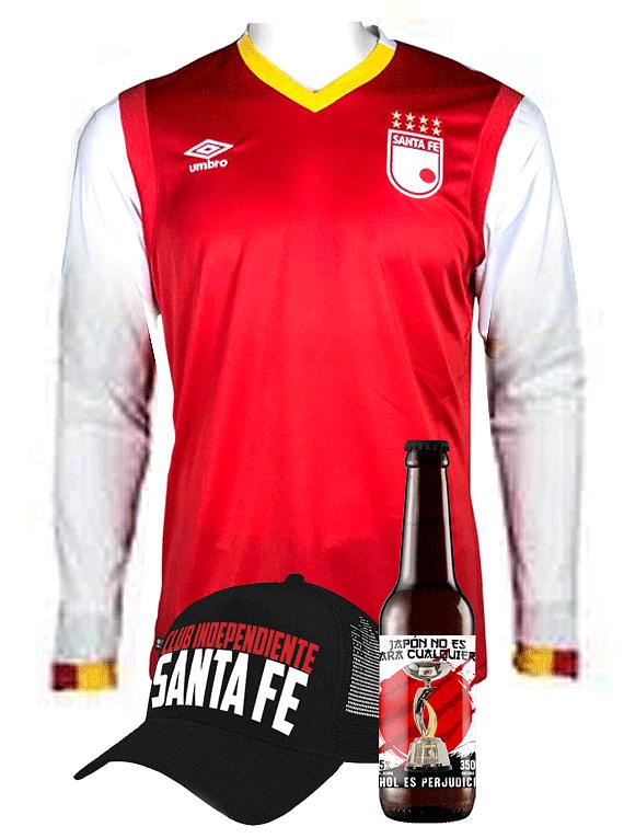 (Camiseta - Roja 2017 - Talla L - Manga Larga) + Gorra + Cerveza
