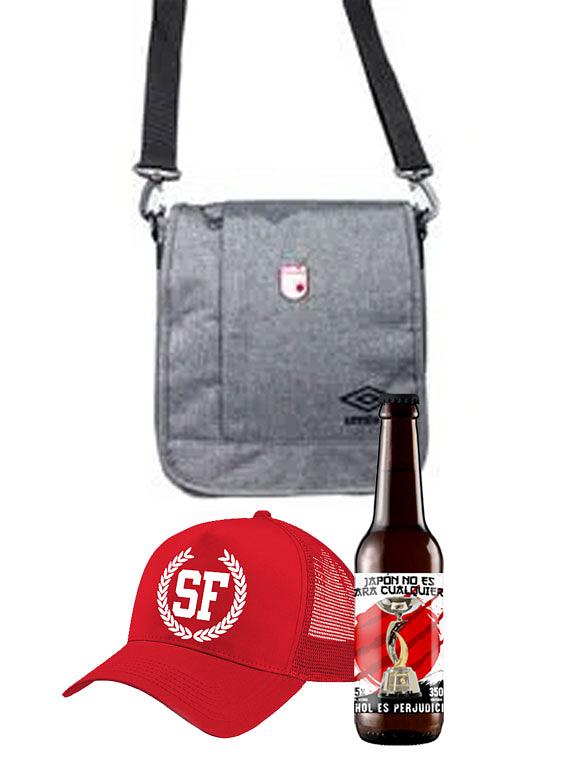 Maletin + gorra + cerveza