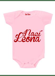 Body - Rosado - Nací leona - 9-12 meses