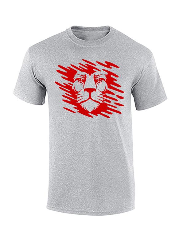 Camiseta cuello redondo de hombre -  Gris Jaspe - Talla L - León Manchas