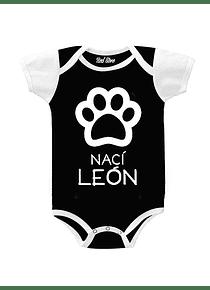 Body Negro Talla Recien nacido - Huella Nací León