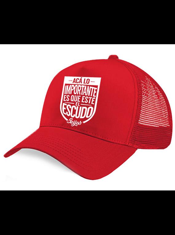 Gorra malla - Acá lo que importa es el escudo