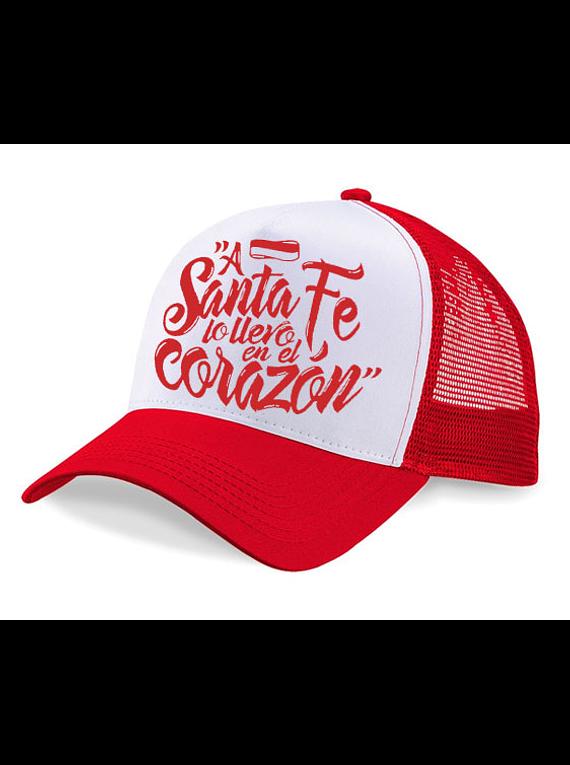 Gorra malla - A Santa Fe lo llevo en el corazón