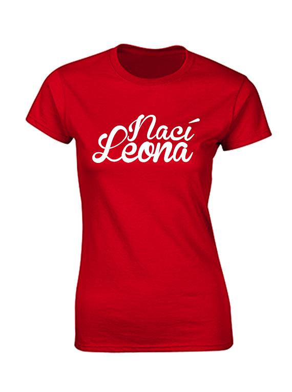 Camiseta mujer - Nací Leona