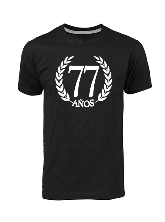 Camiseta hombre - Laurel 77 años