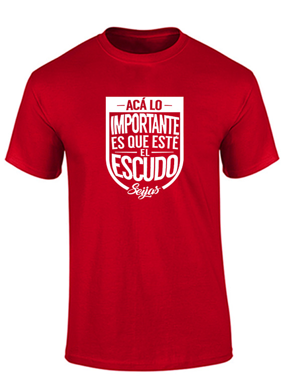Camiseta hombre - Importante es el escudo