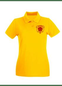 Polo Mujer - Amarilla  - Talla L - Escudo Col
