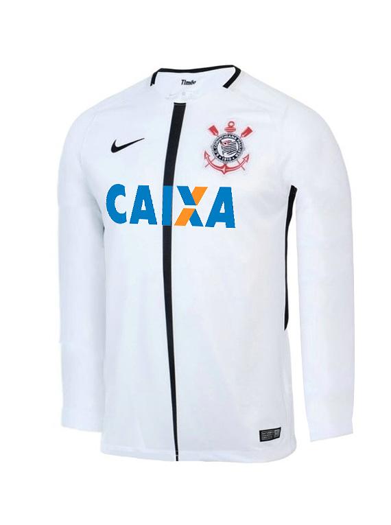 Camiseta Réplica Corinthians - Manga Larga Talla M