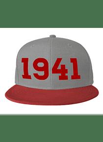 Gorra - Plana - Gris con rojo - 1941