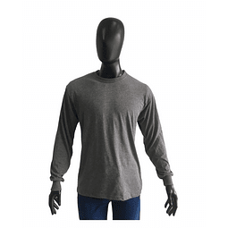Camiseta Cuello Redondo Manga Larga Gris Oscuro Ref. 210170