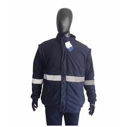 Chaqueta Nylon Azul con Reflectivos Ref. 300130