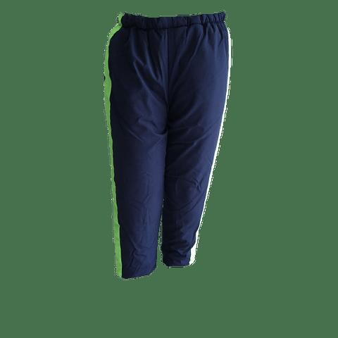 Pantalón Térmico Cuartos Fríos Azul Oscuro con Banda Neón Ref. 320110
