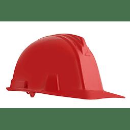 Casco Armadura Dielectrico con Rachet 4 Puntos de Apoyo Rojo Ref. A1300