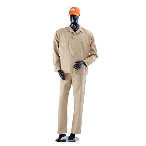Overol Camisa y Pantalón Dril Color: Caqui Ref. 100130