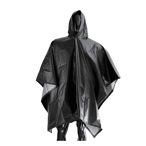 Poncho Waterproof 1.45 x 2 mts Black Ref. 1484