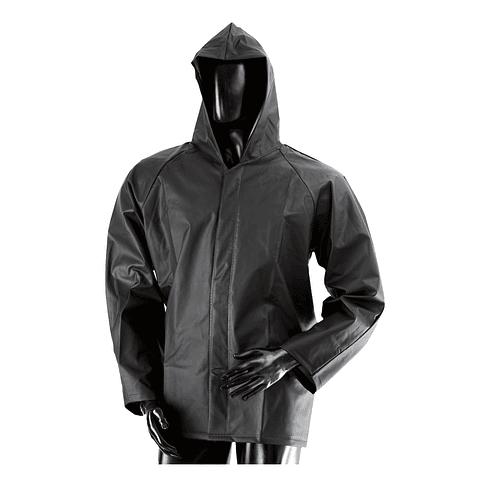 Jacket Waterproof Zip and Velcro Black Ref. 1631