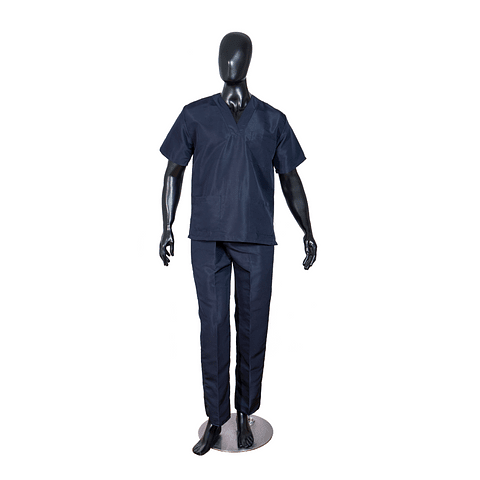 Conjunto Antifluido Cuello V Azul Oscuro Unisex Ref. 10801510
