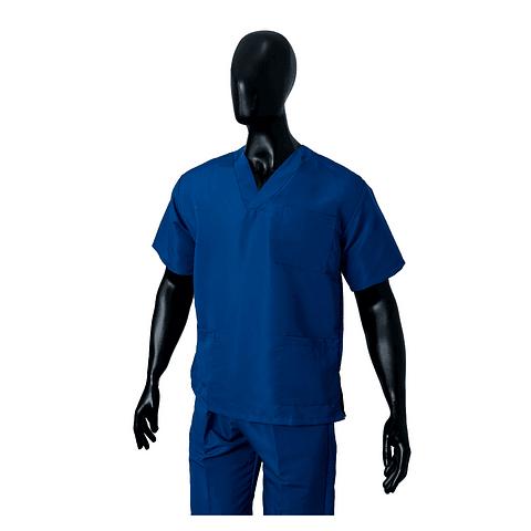 Conjunto Antifluido Cuello V Azul Rey Unisex Ref. 170280