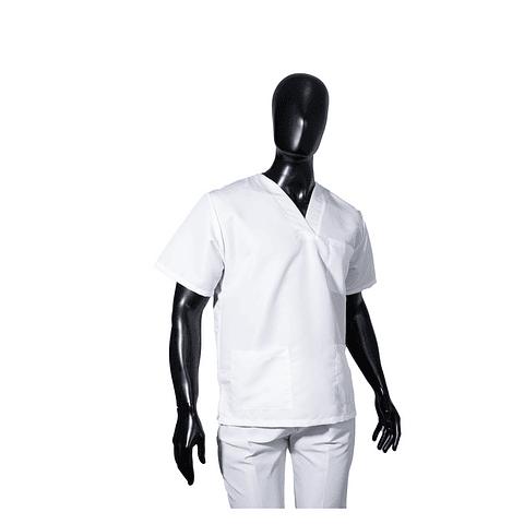 Conjunto Antifluido Cuello V Blanco Unisex Ref. 170220