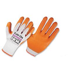 Guante Zubiola Polycotton Latex Naranja Ref. 11959007