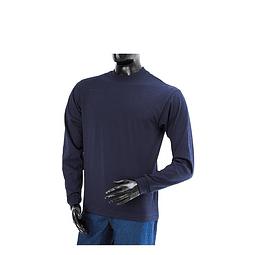 Camiseta Cuello Redondo Manga Larga Azul Oscura Ref. 210110