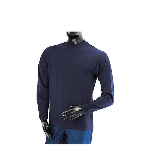 Crew Neck T-shirt Dark Blue Long Sleeve Ref. 106004