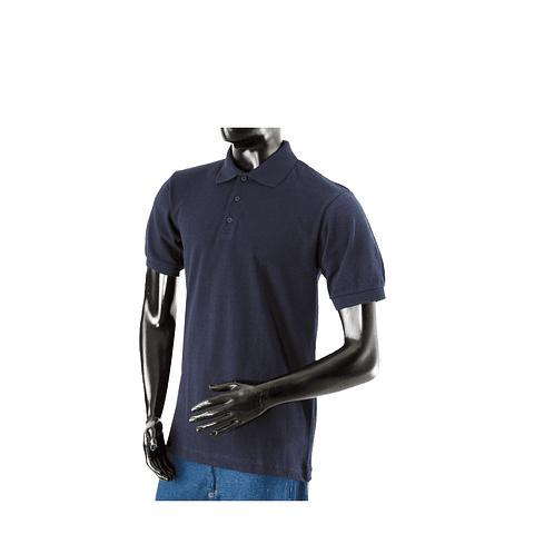 Camiseta Polo Azul Oscuro Manga Corta Ref. 106006