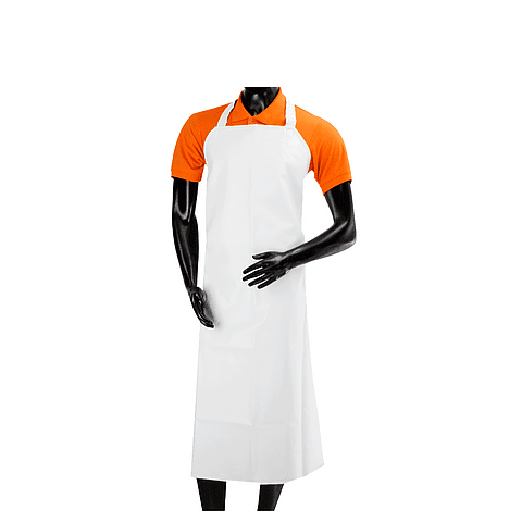 White Large Waterproof Apron Ref. 2515