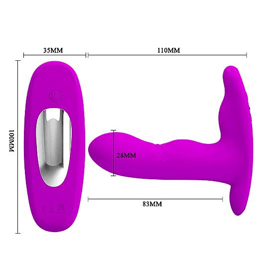Magic Vibrador Zona G recargable lila con control